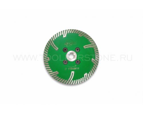 Диск алмазный отрезной D-115*М14 с защитными сегментами