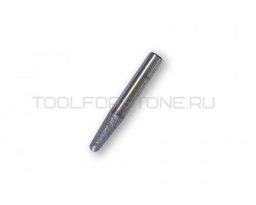 Фреза малая алмазная  вакуумное спекание (конус)  FZ 12.8-30